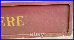 Rare Antique John Deere Sign Tin Tractor/Wagon Side 6' Red/Gold Gas Oil Man Cave