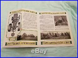 Rare John Deere Tractor Brochure Sign Original Vintage Old Farm Plow Moline ILL