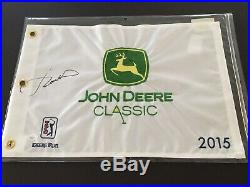 Rare Jordan Spieth Signed 2015 John Deere Classic Flag, JSA/LOA