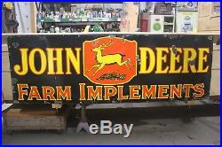 Rare Large Vintage 1930's John Deere Farm 72 Porcelain Metal Veribrite Sign