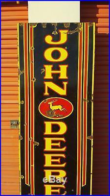 Rare Original 1920s 1930 John Deere Quality Farm Equipment Porcelain Sign