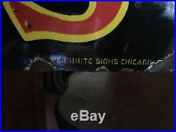 Rare! Vintage 1930s Original John Deere Porcelain Sign Veribrite Huge 72 By 24