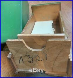 Rare Vintage 30's 40's JOHN DEERE Repairs Customer Box Dealer Wood Advertising