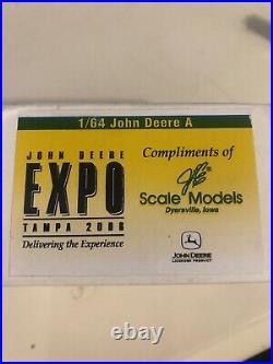 Signed Joseph L. Ertl 1/64th John Deere Scale Model Tractor