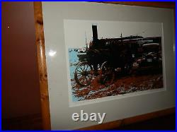 Steam Tractor Art. Wonderful artwork by local Oregon Artist. Excellent Conditon