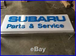 Subaru Lighted Dealership Sign