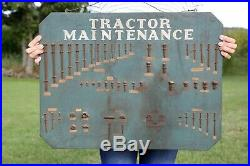 Tractor Maintenance Wood Hardware Sign Mechanic John Deere Farm Tractors Antique
