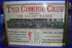 Tyler Texas Commercial College Advertising Poster
