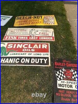 VINTAGE 1940s John Deere Sign Metal Embossed Original Dealer Sold Here Sign RARE