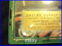 VINTAGE JOHN DEERE FARM IMPLEMENTS BUICK MIRROR DEALERSHIP SIGN Shelbyville. KY
