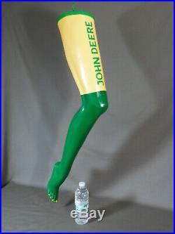 VINTAGE JOHN DEERE Sign, Mannequin Leg OUTSIDER ART