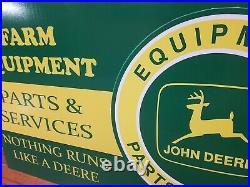 VINTAGE Style JOHN DEERE FARM GAS AND OIL SIGN on plexiglas
