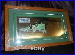 VTG JOHN DEERE Advertising Sign Mirror/Thermometer-Framed-Erdel & Sons, MISSOURI