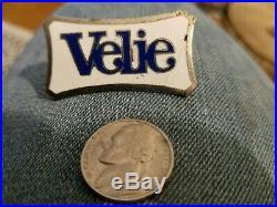 Velie Car Buggy Porcelain Emblem Rare John Deere Farm Old Original Vintage sign
