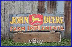 Vintage 1930's John Deere Farm 72 Porcelain Enamel Metal Burdick Sign