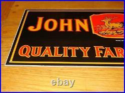 Vintage 1934 John Deere Farm Implements 23 Porcelain Metal Gasoline & Oil Sign