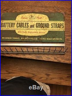 Vintage 1950's John Deere Farm Tractor Battery Cable Gas Oil 22 Metal Sign