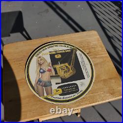 Vintage 1959 John Deere Industrial Tractors Porcelain Gas & Oil Metal Sign
