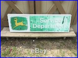 Vintage 1970's John Deere Service Department Metal Sign