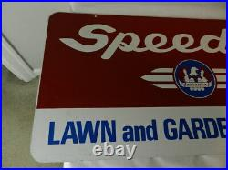 Vintage Advertising Sign- Speedex Lawn & Garden Tractors Sign- 2 Sided- A-m Sign