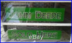 Vintage Antique John Deere Farm Dealers window Sign