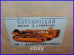 Vintage Caterpillar Diesel D4 Tractor 12 X 8 Metal Farm, Gasoline & Oil Sign