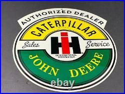 Vintage Caterpillar John Deere International Harvester 12 Metal Gas & Oil Sign