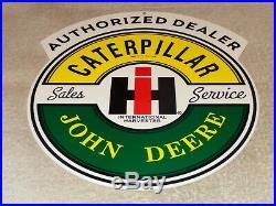 Vintage Caterpillar John Deere International Harvester 1 Metal Gasoline Oil Sign