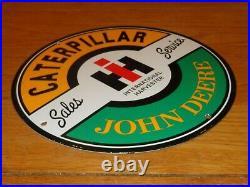Vintage Caterpillar John Deere International Harvester Porcelain Metal Gas Sign