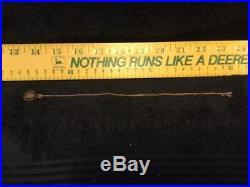 Vintage Gold John Deere 5 Year Employee Service Pin On Gold 18 Chain (NIB)
