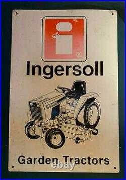 Vintage Ingersoll Case Garden Tractor Genuine Dealer Sign LARGE, RARE 2'x3