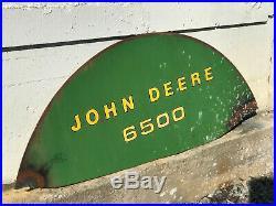 Vintage JOHN DEERE 6500 Agriculture Equ Forage Blower Part Advertising Sign 53W
