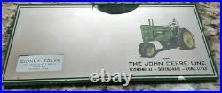 Vintage JOHN DEERE Advertising Mirror Sign Caldwell Kansas Tractor Sales Service