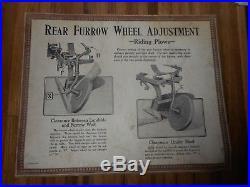 Vintage JOHN DEERE JD Farm Tractor COULTER PLOW Dealer Chart Advertising SIGN