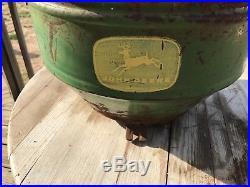 Vintage JOHN DEERE Planter Box Four Legged deer Logo 11 tall 15 wide