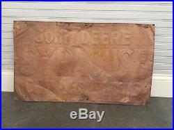 Vintage JOHN DEERE SYRACUSE CHILLED PLOWS Sign