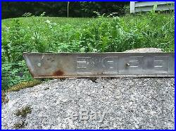 Vintage JOHN DEERE Tractor Aluminum Plaque Sign 38