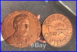 Vintage John Deere 1937 100 year anniversary copper sign advertising original