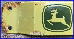 Vintage John Deere 32 Door Push Bar Porcelain Sign Gas Oil Tractor Farm Farming