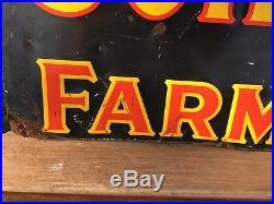 Vintage John Deere 3 Legged Deer Farm Implements Embossed Metal Sign 42