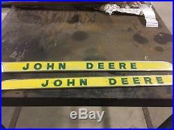 Vintage John Deere Aluminum Tractor Signs, John Deere Decor, Implement Sign