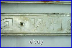 Vintage John Deere Backhoe Crawler Dozer Emblem Pair Aluminum Embossed Original