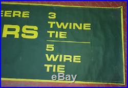 Vintage John Deere Balers Dealer Banner 4 Legged Deere Logo HUGE