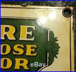Vintage John Deere General Purpose Farm Tractor Dealership Porcelain Sign