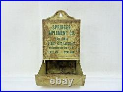 Vintage John Deere Match Safe Advertising Sign Pryor Oklahoma RARE