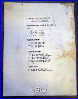 Vintage John Deere Modular Signage Point of Sale System (DR-127) 1970's 1980's