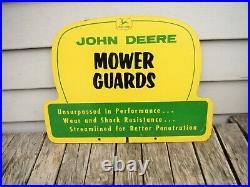 Vintage John Deere Mower Guards Original Delearship Sign 2 Sided Rare