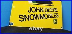 Vintage John Deere Porcelain Gas Snowmobiles Service Station Pump Sign