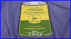 Vintage John Deere Porcelain Gas Tractors Barn Service Farm Plate Can Ad Sign