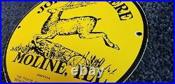 Vintage John Deere Porcelain Illinois Tractor Farm Dealership Service Sign